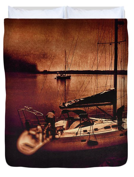 No Yesterdays On The Road Duvet Cover