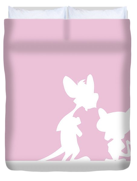 No01 My Minimal Color Code Poster Pinky And The Brain Duvet Cover