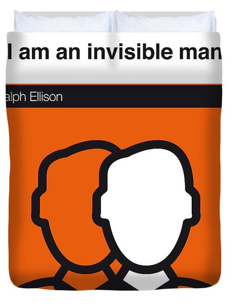 No010-my-invisible Man-book-icon-poster Duvet Cover