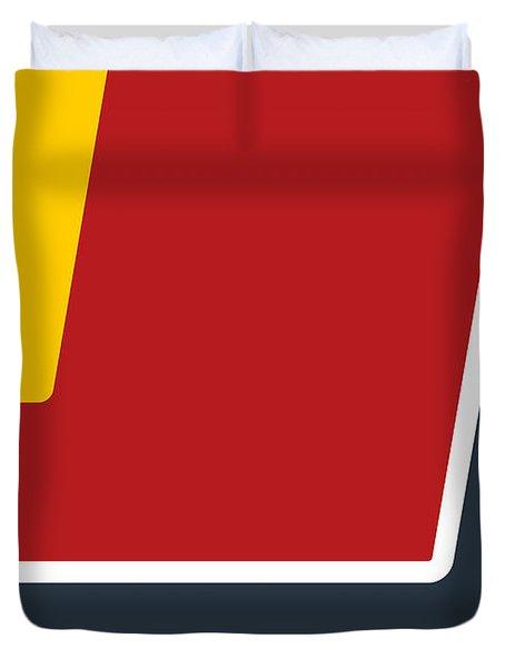 No011 My Mad Max Minimal Movie Car Poster Duvet Cover