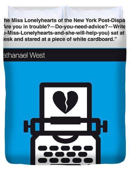 No011-my-miss Lonelyhearts-book-icon-poster Duvet Cover