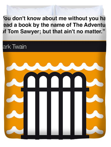 No012-my-huckleberry Finn-book-icon-poster Duvet Cover