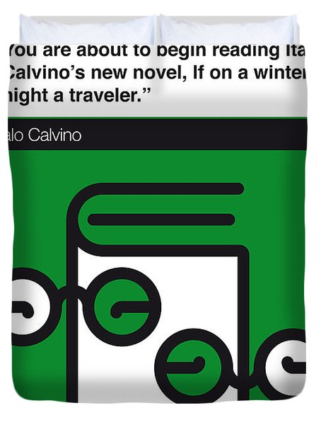 No014-my-if On A Winter's Night A Traveler-book-icon-poster Duvet Cover by Chungkong Art