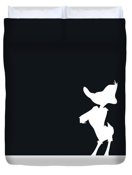No03 My Minimal Color Code Poster Daffy Duck Duvet Cover