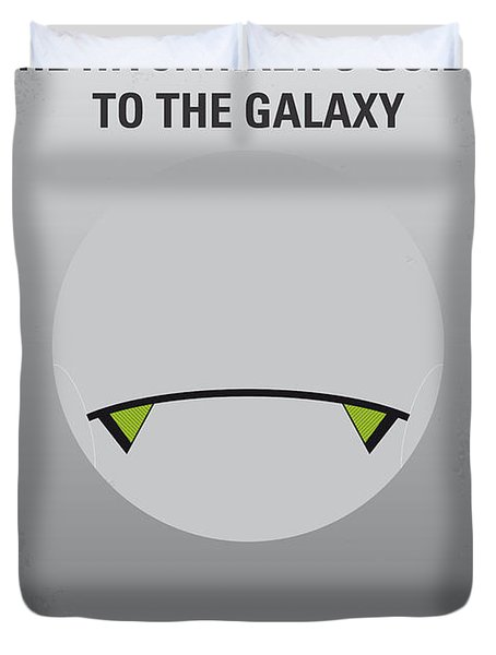 No035 My Hitchhiker Guide Minimal Movie Poster Duvet Cover