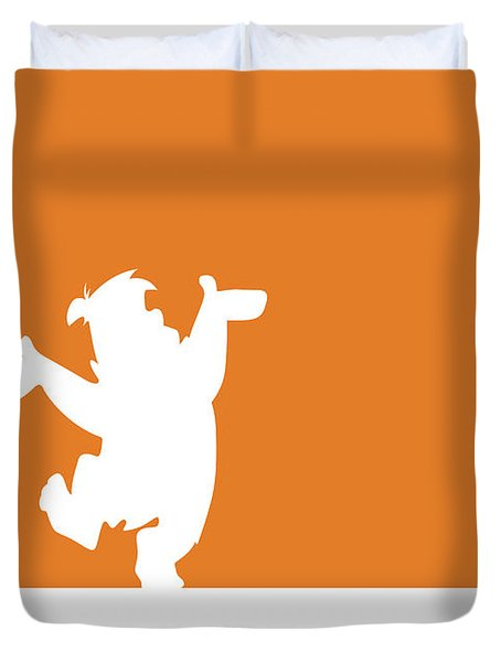 No04 My Minimal Color Code Poster Fred Flintstone Duvet Cover