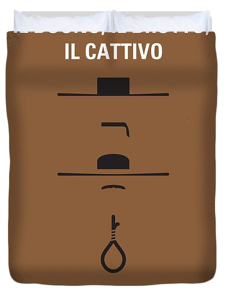 No042 My Il Buono Il Brutto Il Cattivo Minimal Movie Poster Duvet Cover