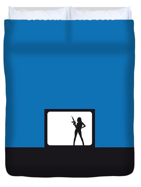 No044 My Jackie Brown Minimal Movie Poster Duvet Cover by Chungkong Art