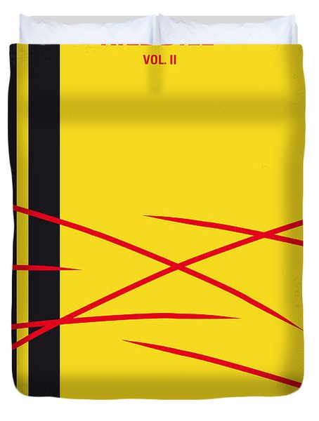 No049 My Kill Bill-part2 Minimal Movie Poster Duvet Cover by Chungkong Art