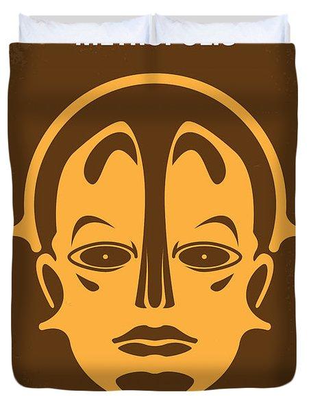 No052 My Metropolis Minimal Movie Poster Duvet Cover