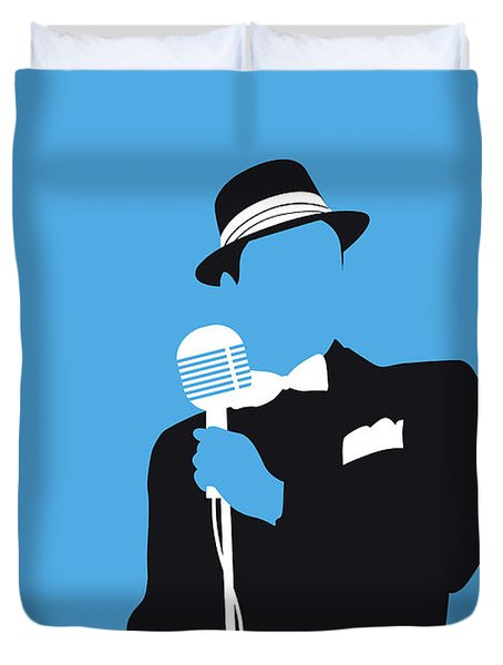 No059 My Sinatra Minimal Music Poster Duvet Cover