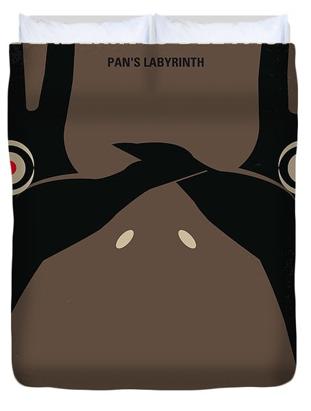 No061 My Pans Labyrinth Minimal Movie Poster Duvet Cover by Chungkong Art
