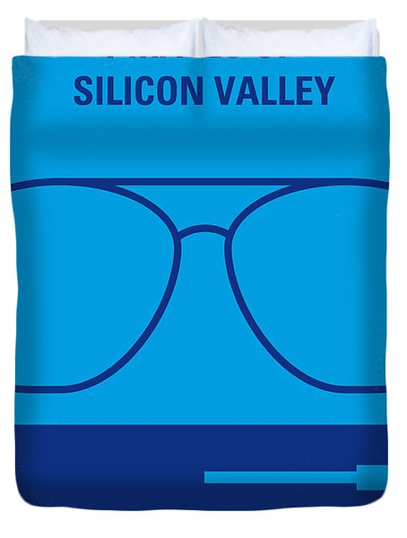 No064 My Pirates Of Silicon Valley Minimal Movie Poster Duvet Cover by Chungkong Art
