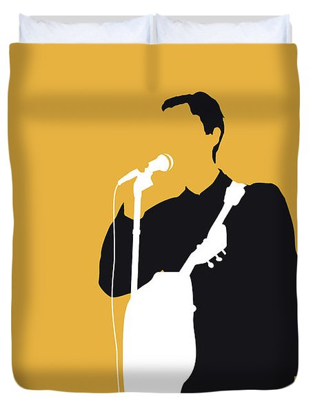 No064 My Talking Heads Minimal Music Poster Duvet Cover