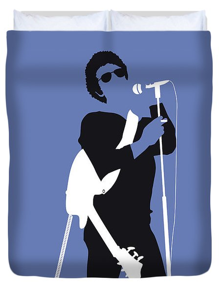 No068 My Lou Reed Minimal Music Poster Duvet Cover