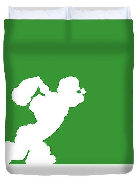 No07 My Minimal Color Code Poster Popeye Duvet Cover
