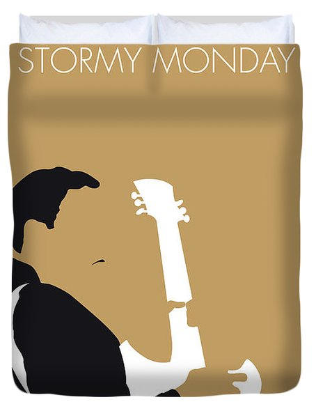 No070 My Tbone Walker Minimal Music Poster Duvet Cover