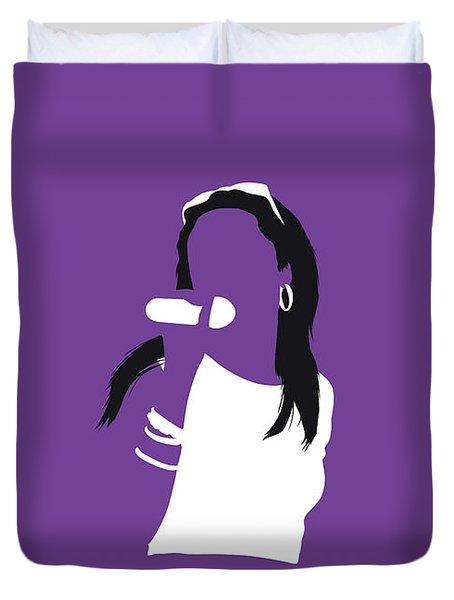 No071 My Aaliyah Minimal Music Poster Duvet Cover