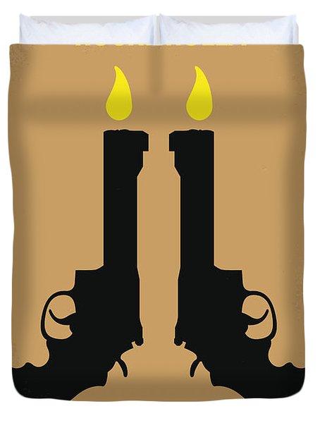 No071 My Rocknrolla Minimal Movie Poster Duvet Cover by Chungkong Art