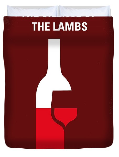 No078 My Silence Of The Lamb Minimal Movie Poster Duvet Cover by Chungkong Art