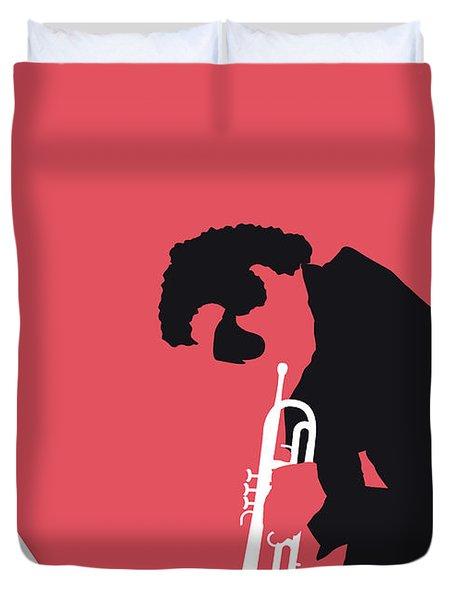 No082 My Miles Davis Minimal Music Poster Duvet Cover