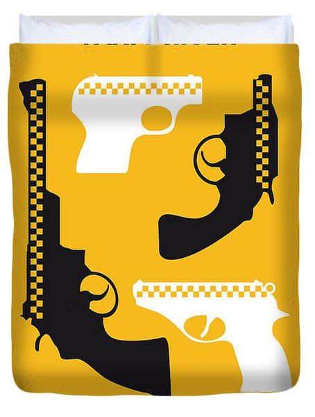 No087 My Taxi Driver Minimal Movie Poster Duvet Cover by Chungkong Art