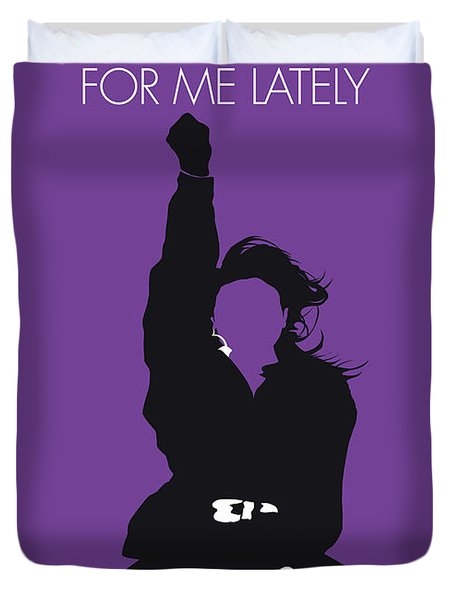 No091 My Janet Jackson Minimal Music Poster Duvet Cover