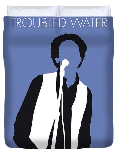 No098 My Art Garfunkel Minimal Music Poster Duvet Cover