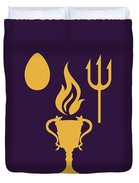 No101-4 My Hp - Goblet Of Fire Minimal Movie Poster Duvet Cover