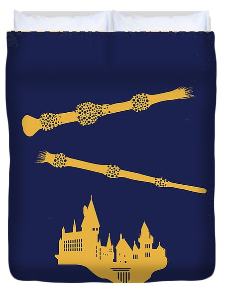 No101-8 My Hp - Deathly Hallows II Minimal Movie Poster Duvet Cover