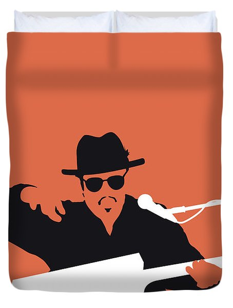 No103 My Bo Diddley Minimal Music Poster Duvet Cover