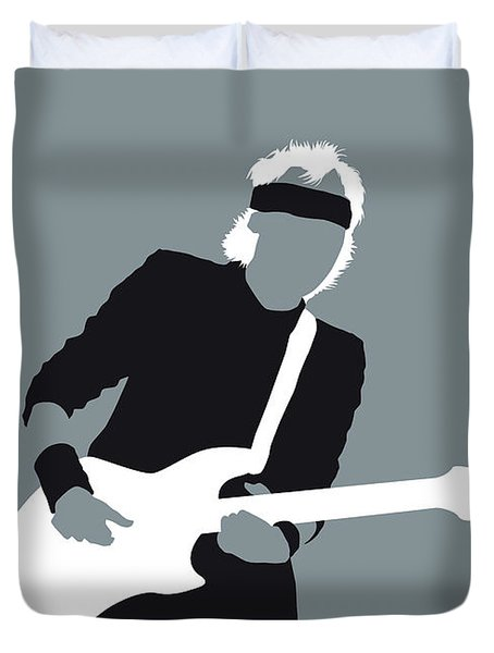 No107 My Mark Knopfler Minimal Music Poster Duvet Cover
