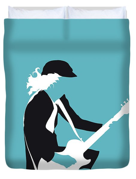 No125 My Acdc Minimal Music Poster Duvet Cover