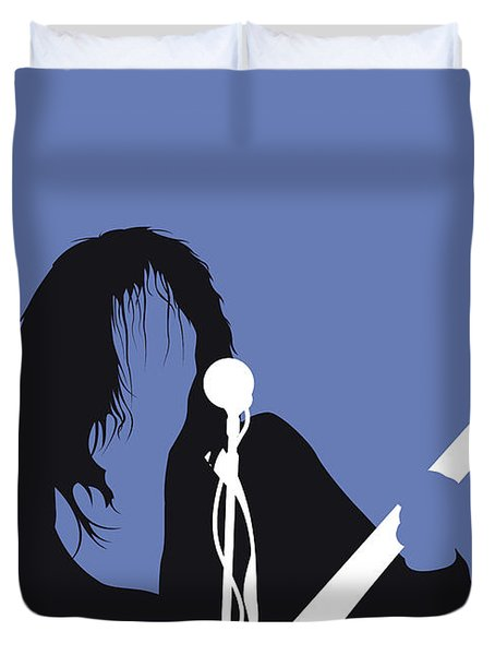 No128 My Neil Young Minimal Music Poster Duvet Cover