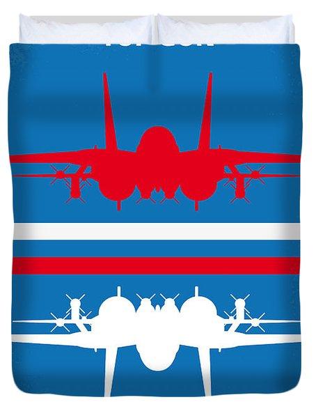 No128 My Top Gun Minimal Movie Poster Duvet Cover