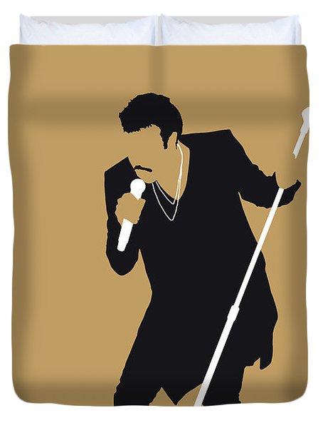 No130 My Lionel Richie Minimal Music Poster Duvet Cover