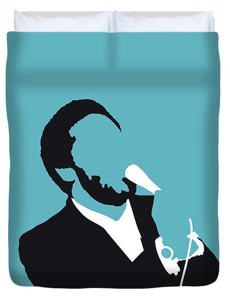 No135 My Al Green Minimal Music Poster Duvet Cover