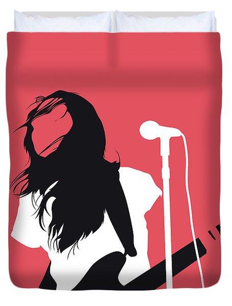 No142 My Meg Myer Minimal Music Poster Duvet Cover