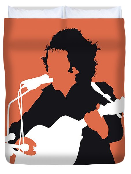 No143 My Don Mclean Minimal Music Poster Duvet Cover