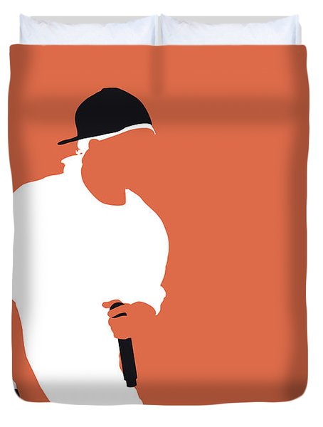 No153 My 50 Cent Minimal Music Poster Duvet Cover