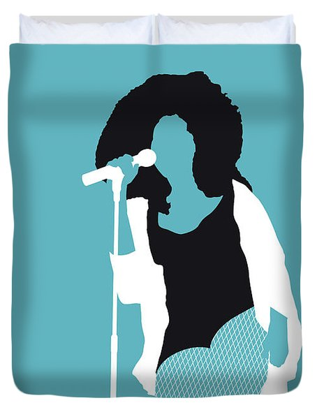 No155 My Chaka Khan Minimal Music Poster Duvet Cover