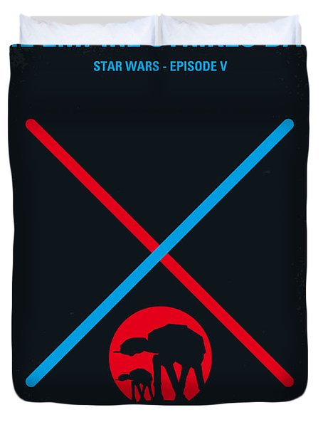 No155 My Star Wars Episode V The Empire Strikes Back Minimal Movie Poster Duvet Cover by Chungkong Art