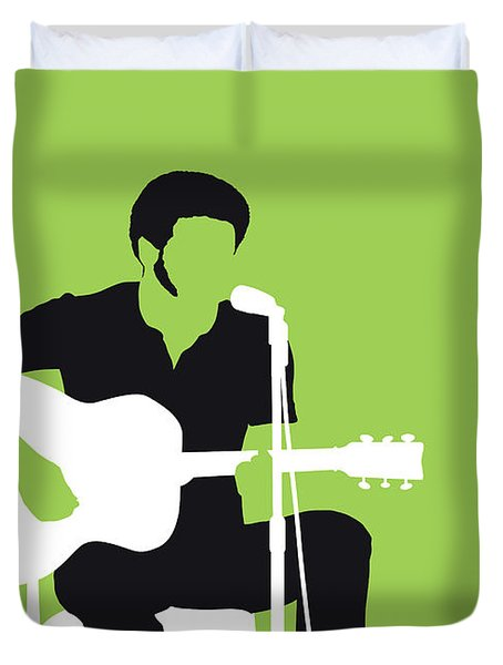 No156 My Bill Withers Minimal Music Poster Duvet Cover