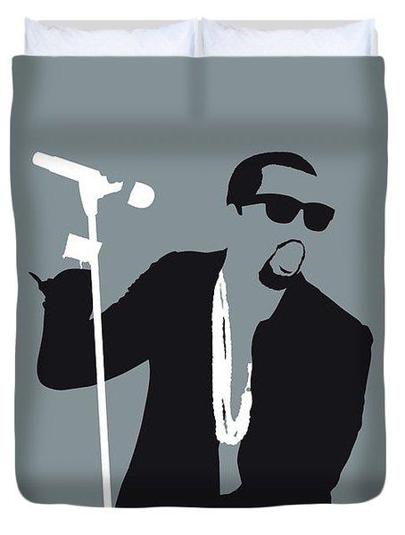 No157 My Kanye West Minimal Music Poster Duvet Cover