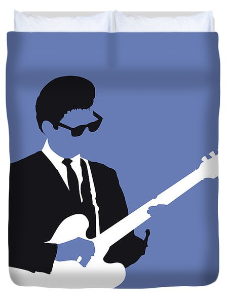 No158 My Roy Orbison Minimal Music Poster Duvet Cover