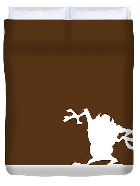 No16 My Minimal Color Code Poster Tasmanian Devil Duvet Cover
