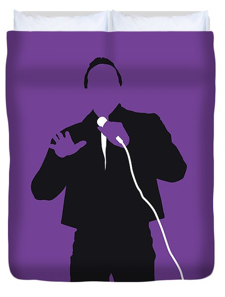 No161 My Smokey Robinson Minimal Music Poster Duvet Cover