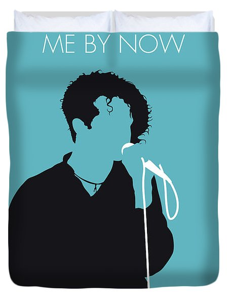 No165 My Simply Red Minimal Music Poster Duvet Cover