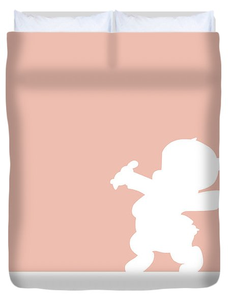 No17 My Minimal Color Code Poster Porky Pig Duvet Cover