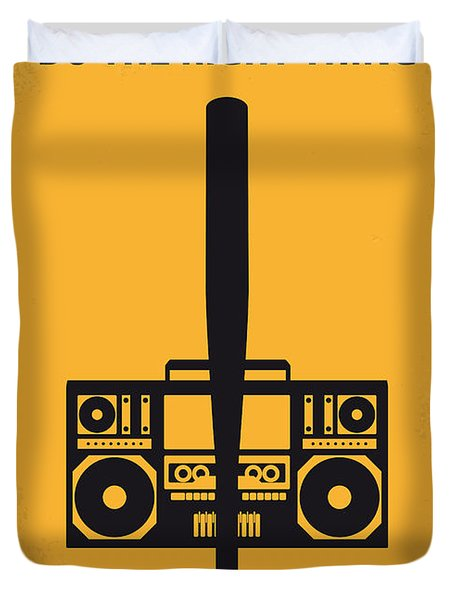 No179 My Do The Right Thing Minimal Movie Poster Duvet Cover by Chungkong Art